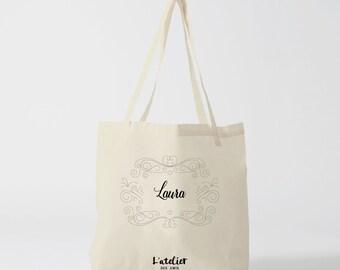 W12Y Tote customizable bag, bag in cotton, bag, bag first name, bag offer, diaper bag, tote bag, tote bags, luggage, handbag