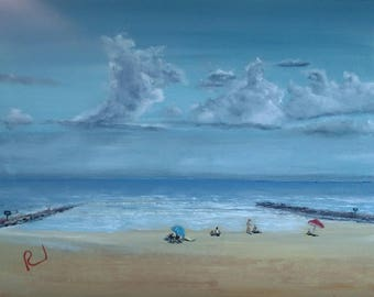 Dramatic clouds over Galveston Beach