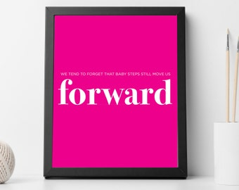 Baby Steps, Forward, Dave Ramsey, Digital Download, Wall Art