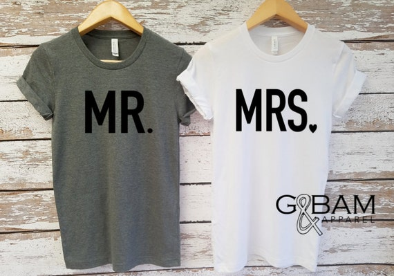 Mr or Mrs Shirt / Bride & Groom Shirts Unisex T-shirt / Groom shirt/ Bride Shirt