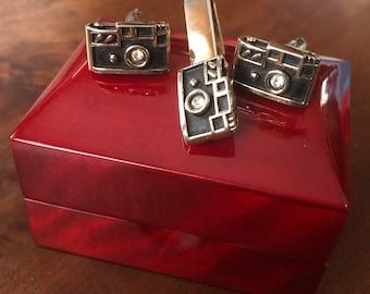 RARE Original Vintage SWANK 50's/Leica Camera Cufflink Set