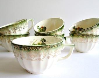 Vintage Set Of Seven Porcelain Tea Cup/Tea Time/Tea Party
