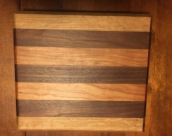 Walnut and Cherry 10x12 Cutting Board