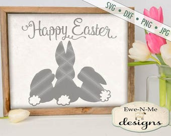 Easter SVG - Easter Bunny svg - Happy Easter SVG - bunny silhouette svg - bunnies svg - Commercial Use svg, dxf, png, jpg