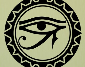 Eye of Horus, Egyptian eye, Eye of Ra, eye of Horus decal, Egyptian decor, Egyptian decorations, Egyptian eye decal, Egyptian art, D00316