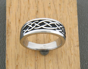316L Stainless Steel Celtic Knot Steel Ring , Irish Ring, Celtic Ring, Celtic knotwork, silver, stainless steel(S50)
