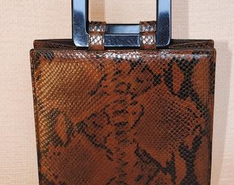 Yves St Laurent bag in python