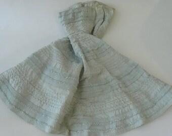 Vintage 40s Strapless Stitched Blue Prom Dress
