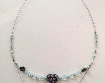 2 Tier Clay Beaded Necklace