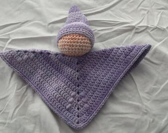 Crocheted baby lovey