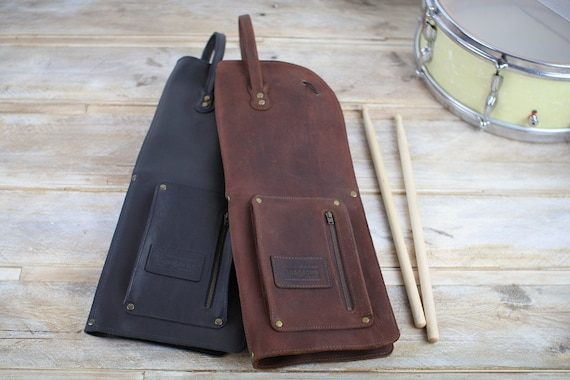 Leather Drumstick Bag, Vintage Style