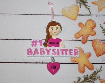 Personalized Number 1 Babysitter Christmas Ornament
