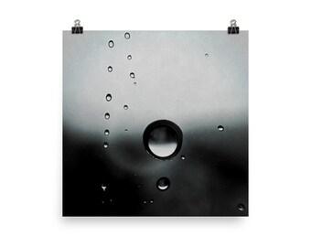 Unframed Poster - RainDrops +Fine Art Photography + Wall Art