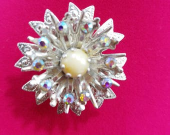 Lovely & Petite, Silver Tone Pin with AB Rhinestones