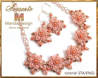 "Tutorial ""Sorrento"" set (to make a necklace and the matching earrings)"