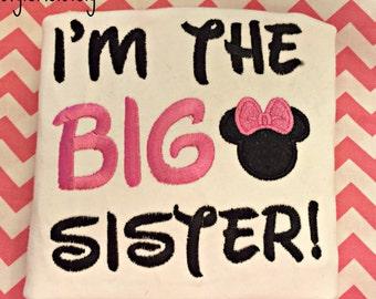 Im the big Sister Minnie girl Shirt