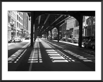 Chicago Photo Print - Black and White Photo Print - Fine Art Photography (CH01)