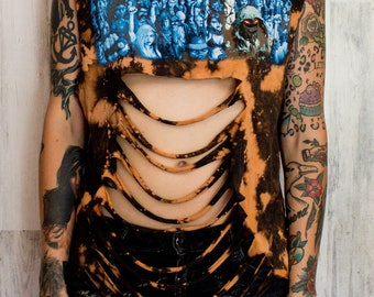 Disturbed - Distressed shirt - Custom band shirt - Rock and Roll - Reworked band tee - Distressed - Shredded Dreams - Medium