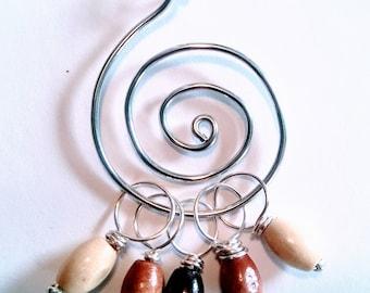 Wooden Stitch Marker Necklace