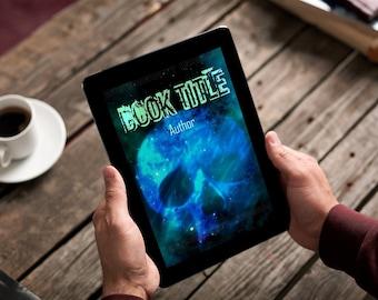 "Premade Ebook Cover ""Space Skull"" Fiction Literary Fiction Horror SciFi"