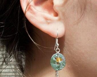 Shooting night earrings