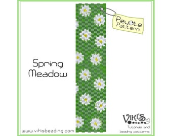 Peyote Pattern: Spring Meadow bracelet - INSTANT DOWNLOAD pdf -Discount codes are available