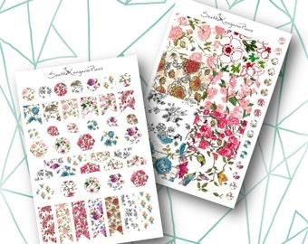 Vintage Floral (65+ Planner Stickers) || SeattleKangarooPlans