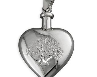Tree-of-Life Ashes or Perfume Bottle Sterling Silver Pendant