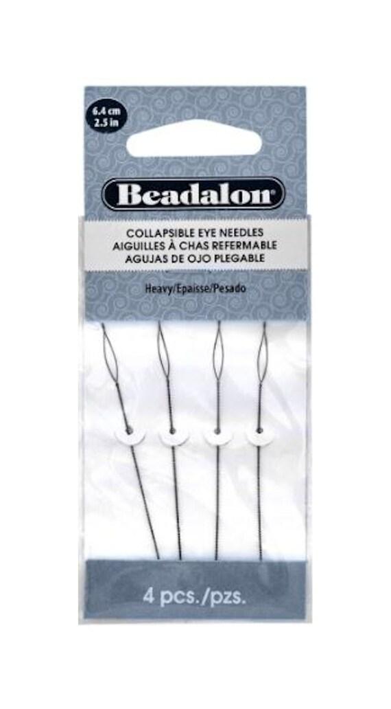 Beadalon Collapsible Eye Needles Heavy 2.5 inches, 4 needles