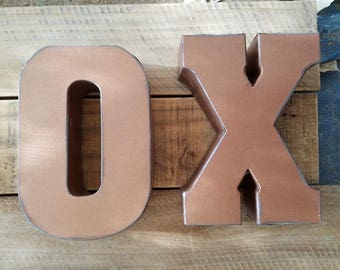 On Sale Galvanized Metal Letters, Large 20 inch letter, vintage, distressed finish, salvage metal, monogram wall decor, choose your letter