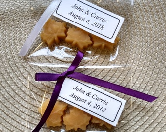 Maple Sugar Leaf Candies - 10 packages of 3 candies/ Wedding Favor/ Vermont Maple Syrup/Baby Shower/bridal shower/holiday/ Customizable