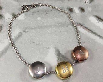 A & C Initial Bracelet