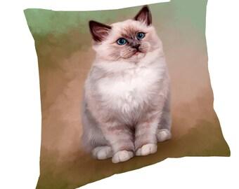 Ragdoll Cat Throw Pillow