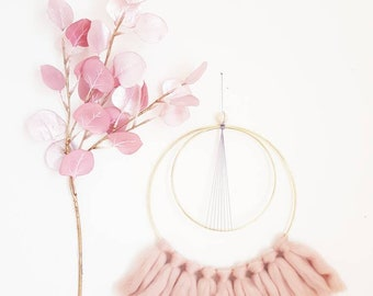 Wall decor - old pink and grey