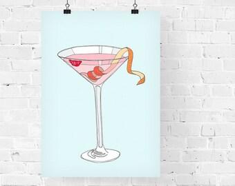 Cosmopolitan Decorative Illustration Art Print