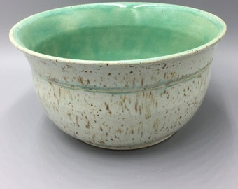 Speckled Stoneware Bowl in Robin's Egg Blue and Turquoise Glaze, Stoneware Pottery, Pottery Handmade Gifts, Ceramics with Specks