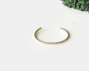 Gold Cuff Bracelet - Minimal Gold Bracelet - Gold Minimal Cuff Bracelet