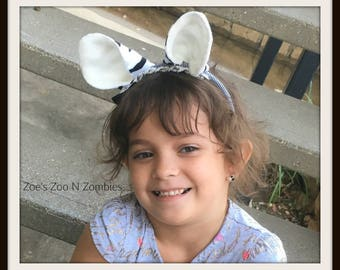 Handmade Zebra Ears, Fun Faux Animal Dress Up , Comfortable Headband Children Adults