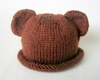 Boston Beanies Teddy Bear Hat, Knit Cotton Baby Hat great photo prop