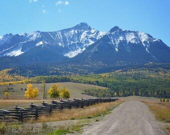 Mountain landscape, wall art, mountain photography, office decor, Colorado picture, fine art photograph, fall decor - Mountain Lane