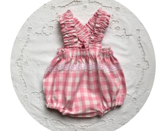 Soft pink baby bloomers