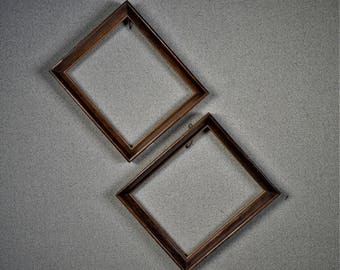 5x6 Frame Dark Pecan Wood with Optional Glass and Matting Complete Kit