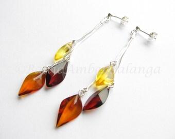 Baltic Amber Dangle Earings