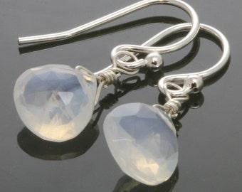 CLEARANCE. Genuine Opal Earrings. Sterling Silver Ear Wires. October Birthstone. Lightweight Earrings. Briolette Earrings. f13e023