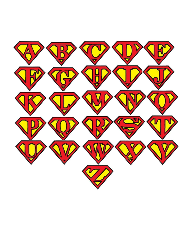 Superman Font Alphabet