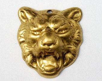 16mm Brass Bobcat Face (2 Pcs) #1924