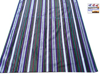 """100% Cotton fabric by the yard, width 80 cm (31 inches), handwoven uzbek """"Bekasam"""""""