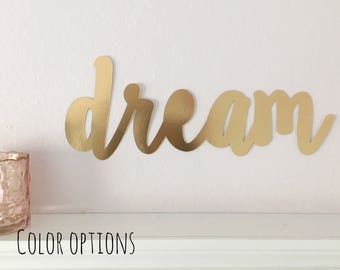 More Colors. Dream Wall Sign Nursery ...