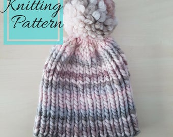The Lydia Beanie Pattern | Beginner Knitting Pattern | Knit Hat Pattern | Easy Knitting Pattern