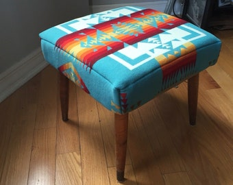 Pendleton Footstool with tapered legs - Chief Joseph
